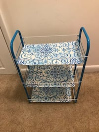 Decorative Aqua Colored 3-Tier Utility Cart Reston