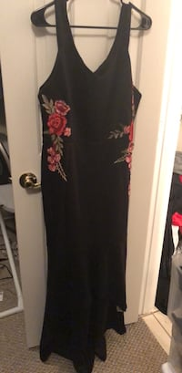 black and red floral sleeveless dress Pearland, 77584