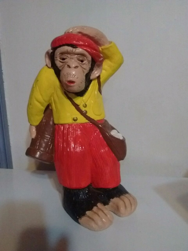 Vintage 1977 Ceramic Monkey Business Caddy