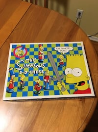 Vintage 1991 The Simpsons 3-D Chess Set 100% Complete Board Game