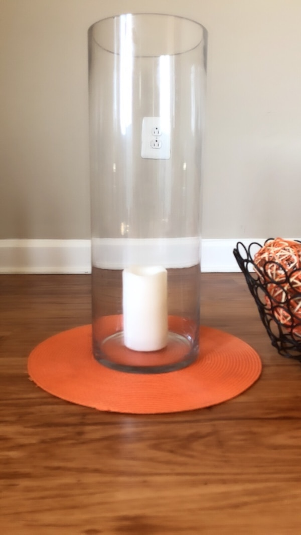 Extra Large Tall Glass Candle Holder