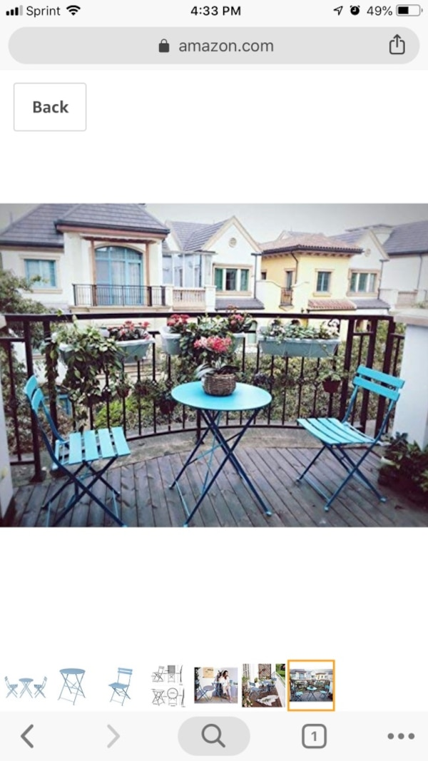Used Grand Patio Bistro Set 3 Piece