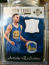 Warriors Stephen Curry jersey card Paramount, 90723