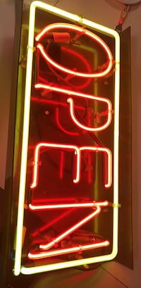 red and white neon light signage Jersey City, 07305