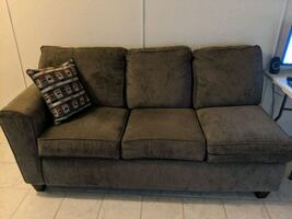 Gray Loveseat with pillow