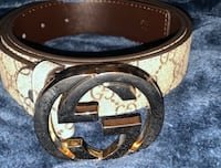 black and brown Louis Vuitton leather belt Mississauga, L5B 0K4