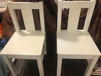 Two new child's chairs white cute  Edmonton, T5M 0S6