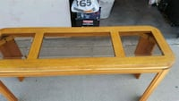 rectangular brown wooden framed glass top coffee table Camarillo, 93012
