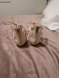 pair of white leather open-toe heeled sandals Nashville, 37216