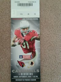 14 count tickets for cardinals vs redskins Peoria, 85381