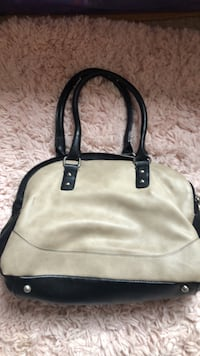 women's white and black leather handbag Germantown, 20874