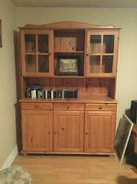 brown wooden cabinet with hutch Brampton, L6S 1A6