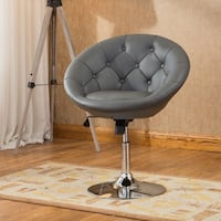 Brand New Black Leather Accent Vanity Chairs  Brea, 92821