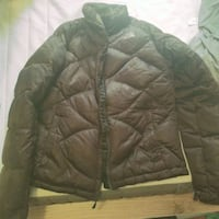 Women's brown North Face zip-up bubble jacket Waterford Township, 48328