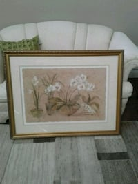 Large orchids picture matted & framed