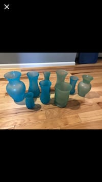 Seaglass painted vases we used for our wedding Warrenton, 20187