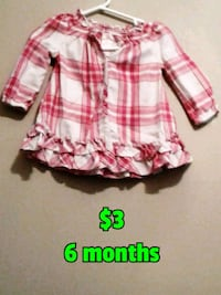 girl's pink and white plaid dress Calgary, T3B 0T3