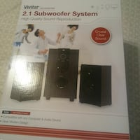 black and gray home theater system box East Haven, 06512