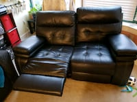 black leather 2-seat recliner sofa 26 mi