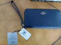 Coach skinny wallet navy/light gold Clifton, 20124