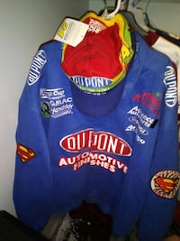 Jeff Gordon racing jacket with Jeff Gordon signed/autographd hat