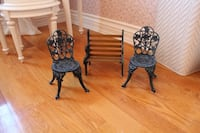 Rod iron doll chair set  Vaughan, L4L