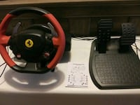 Ferrari 458 spider racing wheel with pedals . Xbox Harvest, 35749