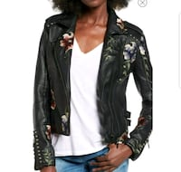 Blank NYC Embroidered vegan leather jacket  Dallas, 75227