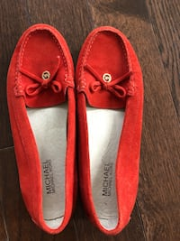 pair of red leather loafers Terrebonne, J6Y 2B5