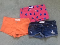 Abercrombie, Hollister, Gilly Hicks shorts Waterloo, N2L 5N4