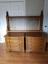 Wooden Queen Bed Set + 2 Chest Style Nightstand  Kitchener, N2E 2H3
