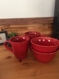 Mugs and bowls - red - pier 1 imports  Hamilton