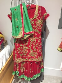 Women's red and green sari Vancouver, V5S 2V5