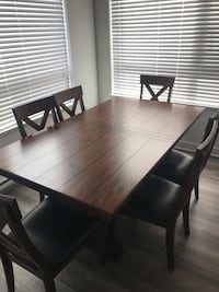 wood dining room 6 or 8 chairs Langley, V3A 1P6