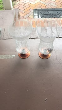 two clear glass candle holders Summerville, 29483