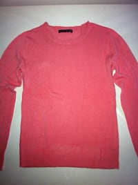 Pull à col rond rose Paris, 75001