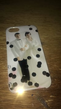 white and black polka dot iPhone case Las Vegas, 89108