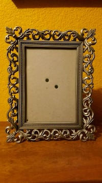 silver metal photo frame