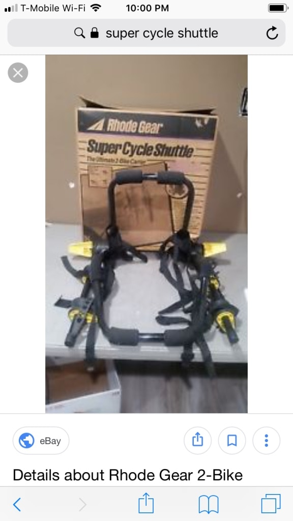 Photo Yakima Super Shuttle Car Bicycle Carrier 2 Bike Rack Easy to use straps