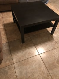 Black coffee table and end table  Yuma