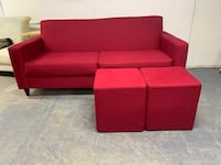 Modern red sofa set