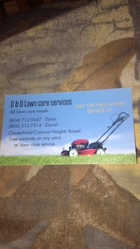 Give one of us a call to mow your lawn or any lawn care service Chester