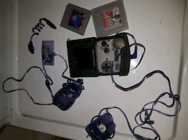 Clear Purple Gameboy Advance with Accessories + 2 Games