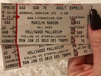 two Marilyn Manson tickets