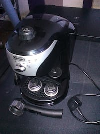 black and gray DeLonghi coffeemaker LONDON