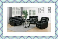 Black Faux leather New recliner sofa and loveseat New  Elkridge, 21075