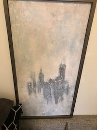 "Original Modern Art by Pauli ""Artist"" Peterson Black wooden framed painting Minneapolis, 55402"