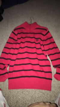 red and black stripe long-sleeved shirt Winnipeg, R2M 1A2