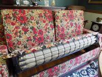 red floral fabric sofa FREDERICK