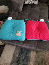 6 Brand new chair cushions reversible
